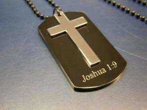 Engraved dog tag pendant