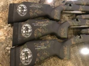 Custom logo engraved gun stocks