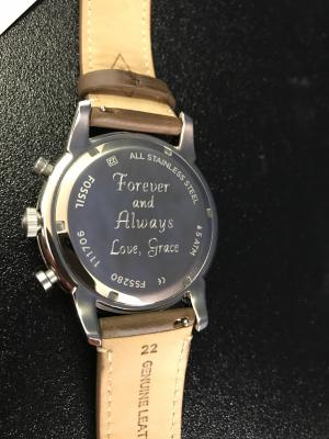 Watch back personalization