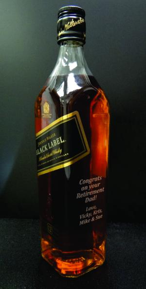 Engraved Whiskey Bottle