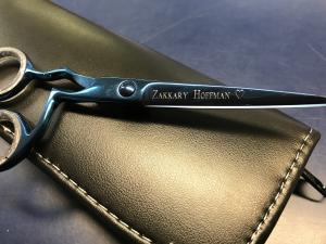 Scissors with personalized message engraved