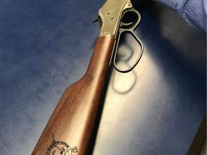 Old School Lever Action With Modern Engraving